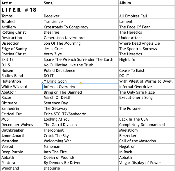 Lifer Playlist #18