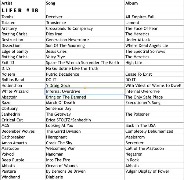 Lifer Playlist #18